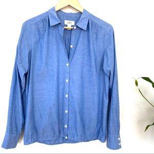 LOFT 💯 cotton button down shirt